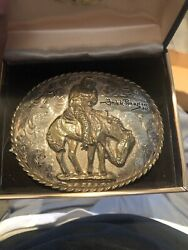 Super Rare Sterling The Norther, Frederic Remington Buckle Bronze 1/1000