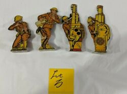 Marx 1930's Tin Soldiers Lot Of 4 - Lot 3 Of 6