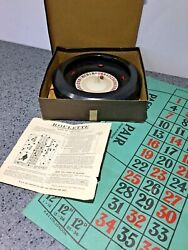 Vintage Boxed Bakelite Roulette Wheel Game Toy With Instructions