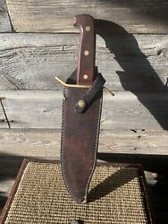 Vintage Western Bowie Hunting Knife W49 Fixed Blade Knife