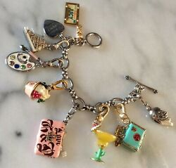 Juicy Couture 8 Charms And Bracelet W/box Grace And Frankie🎨🖌️frankie Themed✨🔍