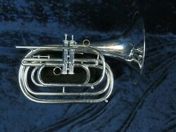 Dynasty Silver G French Horn Bugle Sern2773 2 Piston Valves Plays Great