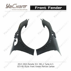 Frp/carbon Kit For 12-15 Porsche 911 991.1 Turbo And S Gt3-rs-style Front Fender