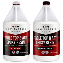 Epoxy Resin 2 Gallon Kit Art Crafts And Table Tops Super Clear New Classic Resin