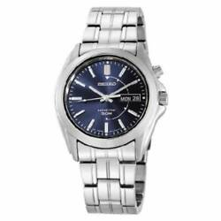 New Seiko Smy111 Men's Kinetic Blue Dial Stainless Steel 37mm Watch Msrp 315