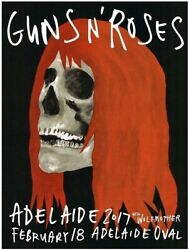 Guns And039nand039 Roses Wolfmother Concert Flyer Ltd.ed 148 Of Only 150 November Rain.