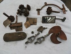 Lot Of Old Vintage Car Parts Gears Starter Pedal Mirror Latch Pedal Champs.