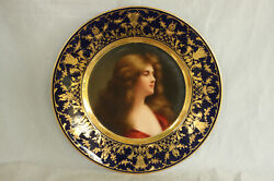 Royal Vienna Porcelain Asti Reflexion Portrait Plate 100 Hand Painted Wagner