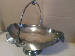 Simpson Hall Miller Silver Plated 12 Inch Basket