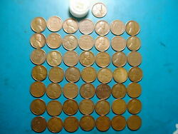 1933 Lincoln Wheat Cent Penny Roll, High Grade Vf-xf Nice Hard-to-get-roll