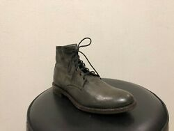 BARNEYS NEW YORK Men's designer military Leather ankle boots size 9