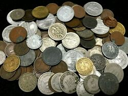 Rare Vintage German Empire Coin Lot-1900s To 1945-twenty20 Coins Wwi And Ii Era