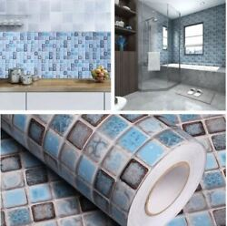 Mosaic Contact Wallpaper Self Adhesive Removable Peel Stick for Bathroom Kitchen