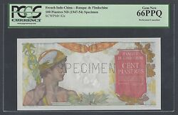 French Indo-china 100 Piastres Nd1947-54 P82s Specimen Uncirculated