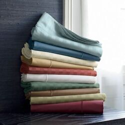 1000 Tc Egyptian Cotton Deep Pkt 1 Pc Fitted Sheet Short Queen Size All Striped