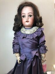 24andrdquo Antique German Simon And Halbig K Star R Bisque Doll 58 Brunette Sf2