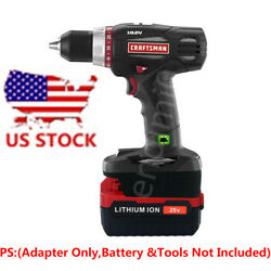 Porter-cable 20v Pcc685l Li-ion Battery To Craftsman 19.2v Tool Adapter-us Stock