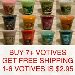 Yankee Candle 1.75 oz Small Sampler Votive Scented Mini Candle U Choose Pick Any