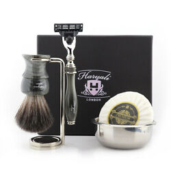 Set Of 5 Pcs Men Home Daily Shaving And Grooming Kit Barber Salon Clean Shave Mens