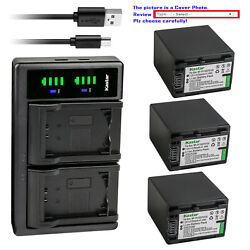 Kastar Battery Lcd Dual Usb Charger For Np-fv100 Sony Hxr-nx80 Pxw-z90v Pxw-x70