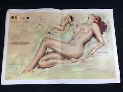 Vintage 50s Nude Charcoal Drawing Walter T Foster W Charles Lasalle Mcm Art Book