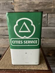 Vintage Cities Service 1 Gallon Oil Can