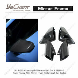 Dry Carbon Kit For 14-19 Huracan Lp610-4 Lp580-2 Side Mirror Frame Replacement