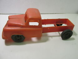 Vintage Plastic Tico Toys Red Dump Truck Frame Toy Vehicle Dc3049