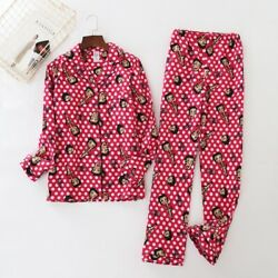 New Ladies Red Betty Boop Button Top And Trousers Pyjamas Pajamas Ladpj270