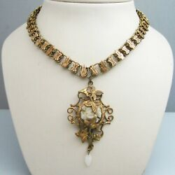 G096 Gold Filled Victorian Necklace
