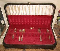 Vintage 31 Pc Rogers Xii Overlaid Is Silverware Set And Storage Box