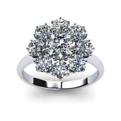 Best Valentine Gift 1.20 Ct Real Diamond Engagement Ring 14K White Gold Size 7 8