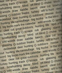 The Great Outdoors Tan Black Words Wildlife Hunting Men Windham Fabric