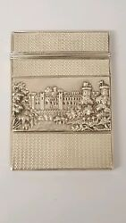 Stunning Solid Silver Double Castle Top Card Case Nathaniel Mills 1838