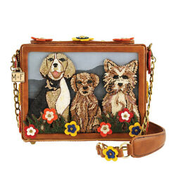 Mary Frances Dog Park Beaded Novelty Shoulder Handbag Puppy Dogs Bone Bag New $298.00