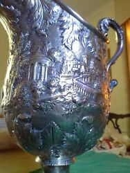 S Kirk And Son Coin Silver Repousse Water Pitcher12height
