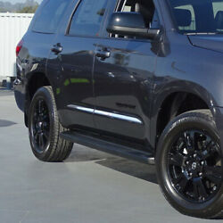 4pc Flat Body Side Molding Trim 1 1/2 Stainless For 2007-2021 Toyota Sequoia
