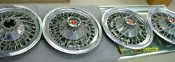 Set Of 4 Oem 1977-82 Ford Fairmont Mustang Granada 14 Wire Hubcaps Wheel Covers