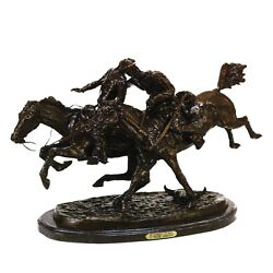 Wounded Bunkie By Frederic Remington Bronze Large