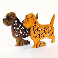 Cairn terrier dog figurine dog statue made of wood (MDF) hand-paint