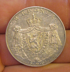 Norway - 1906 Silver 2 Kroner - Scarce Type And Nice