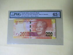 South Africa 200 Rand P137 A 2012 Mandela Panther Tiger Pmg 65 Unc