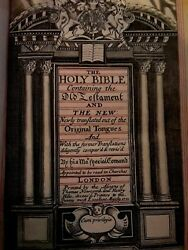 1711 Holy Bible King James Red Ruled O.t. Lady Caroline Brydgeand039s Book
