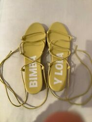 Bimba Y Lola Yellow Platform Sandals $75.00