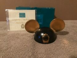 Wdcc Mickey Mouse Club Ears Honorary Ears Club 33 Version + Box And Coa