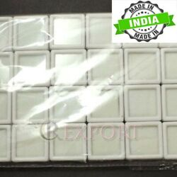 Atar 480pcs White Square Glas Top Edelstein Display Box Container Atpw1