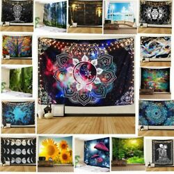USA Psychedlic Hippie Tapestry Mandala Wall Hanging Bedspread Home Deco Tapestry