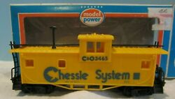 Vintage Ho Scale Trains Model Power Cando Chessie 3465 Yellow Cabbose Car