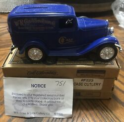 Case Xx Ertl 1st Edition 1932 Ford Panel Delivery Truck Bank, 1/25th Scale