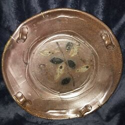 """Jeff Whyman Sculpted Clay Ceramic Pottery Stoneware Plate Tray Wall Art 10"""""""